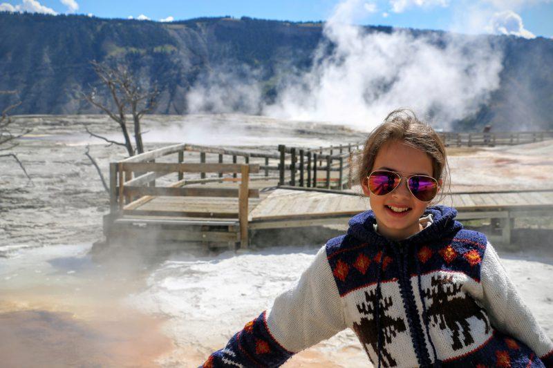 ammoth Hot Springs upper terrace