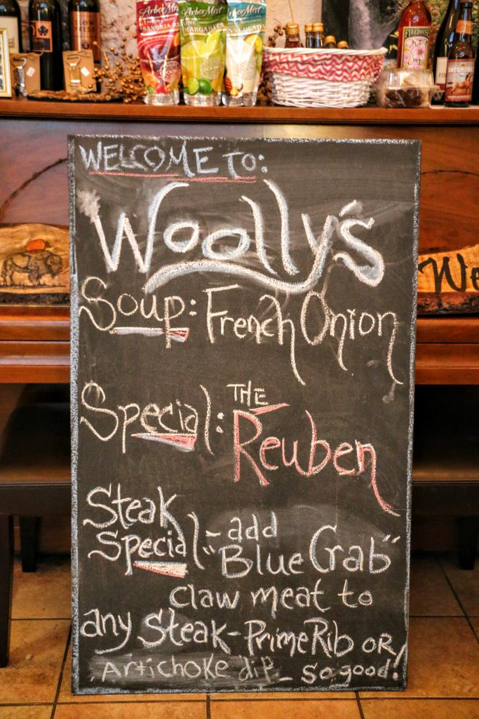 Woolly's Western Grill Menu