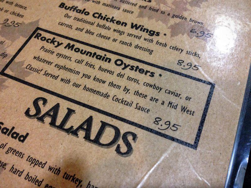 Rocky Mountain Oysters eten
