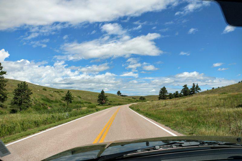 Route naar Custer