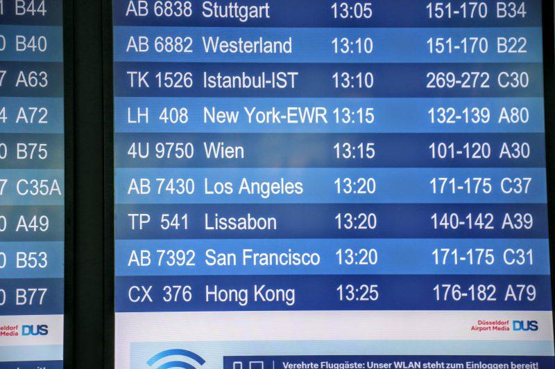 Vlucht van Düsseldorf naar Los Angeles
