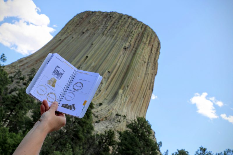 Stempels van Nationale Parken Amerika in een boekje