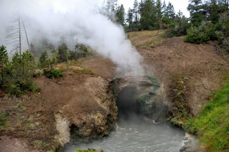 Een van de vele bezienswaardigheden in Yellowstone