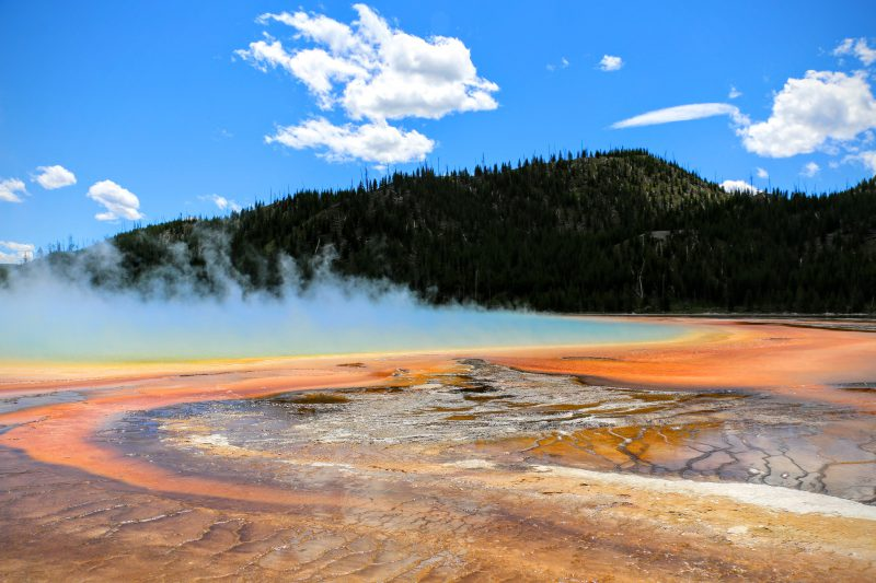 Grand Prismatic Spring kleuren