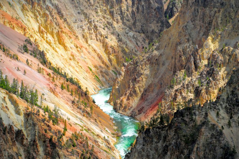 The Grand Canyon of the Yellowstone - mooie kleuren