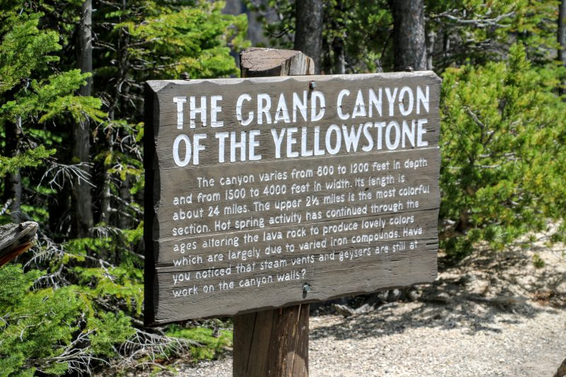 The Grand Canyon of the Yellowstone bord