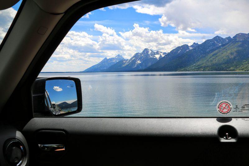 Jackson Lake gezien vanuit onze Jeep