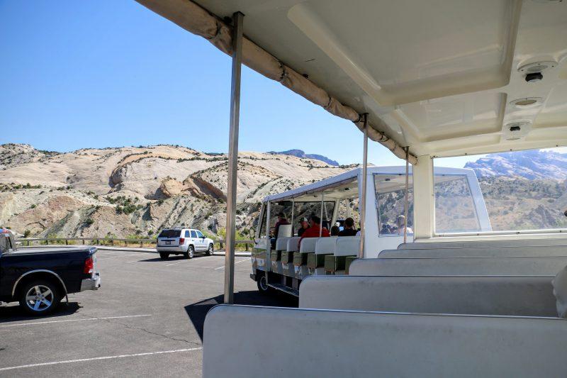 Dinosaur Quarry Visitor Center shuttle bus