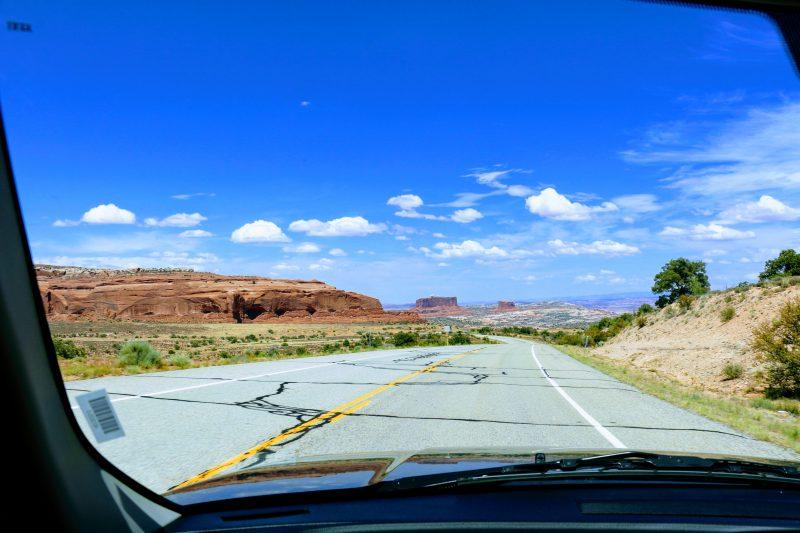 Route van Canyonlands naar Moab