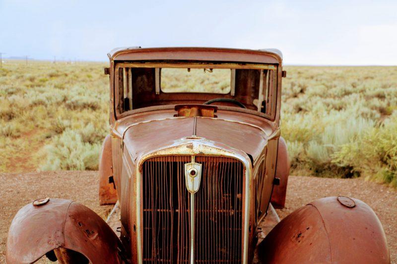 Route 66 verlaten auto