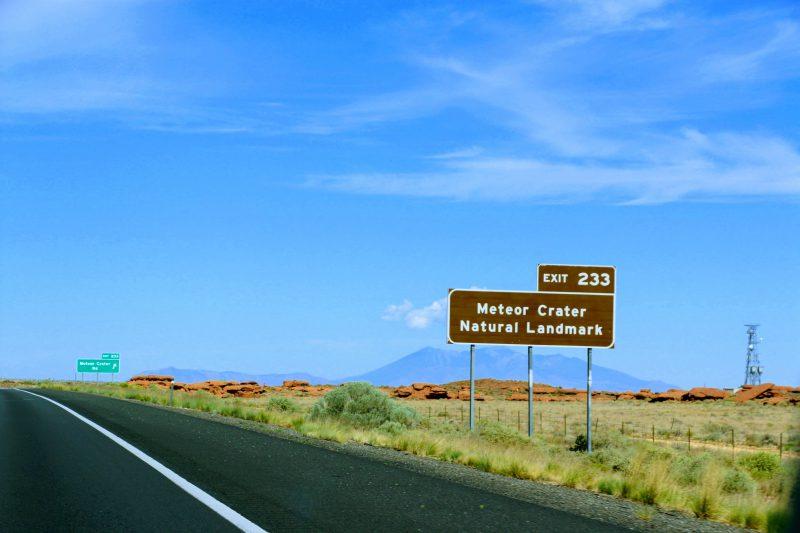 Meteor Crater exit 233
