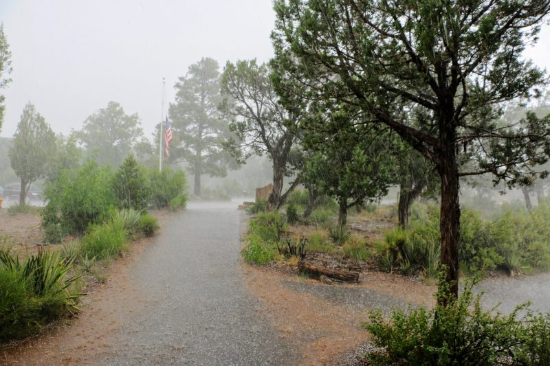 Warmte onweer in Amerika