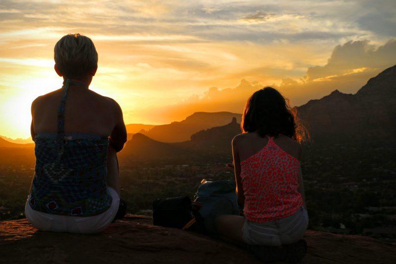 Zonsondergang in Sedona