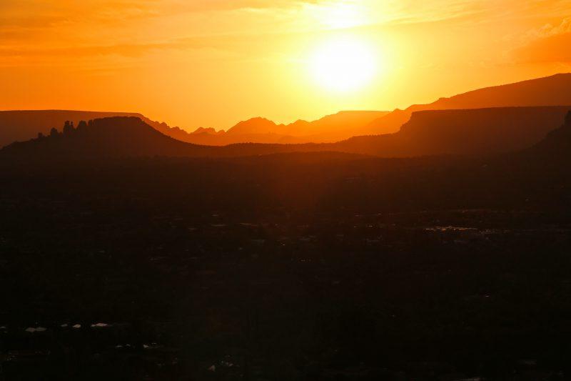 Een zonsondergang in Sedona Arizona