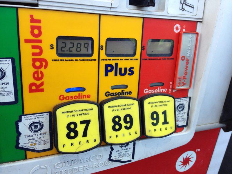 Benzine tanken in Amerika Sedona