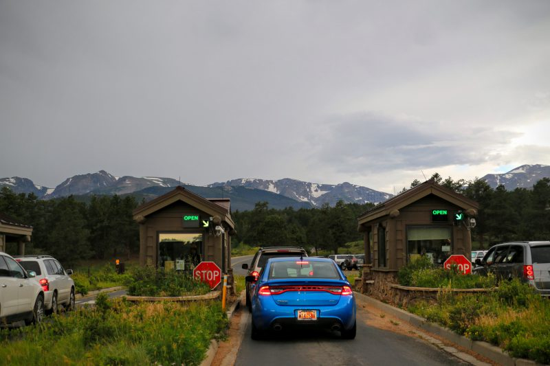 Ingang Rocky Mountain National Park