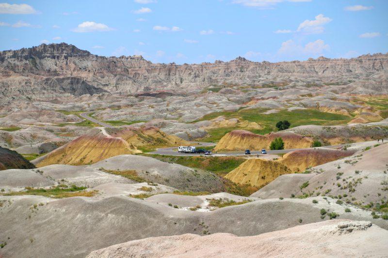 Prachtige kleuren in Badlands National Park
