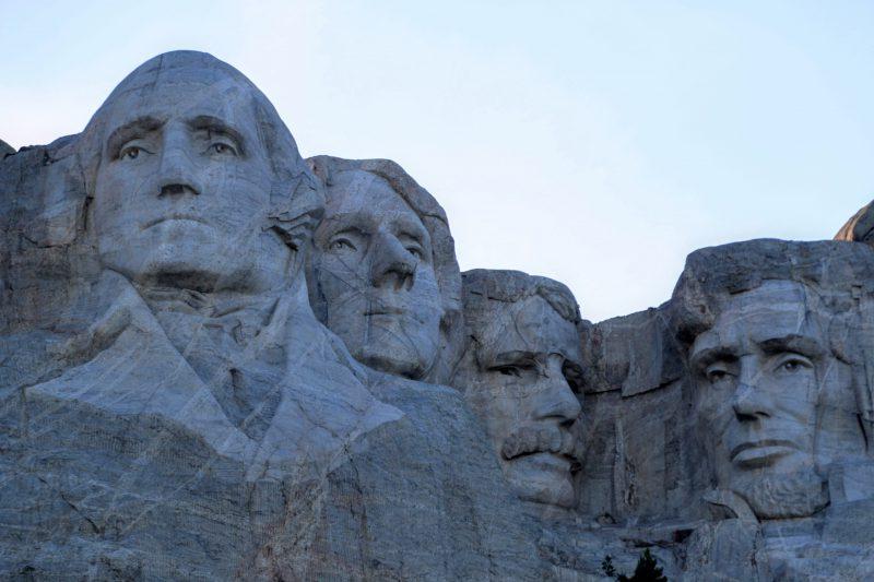 Presidenten in rots Amerika
