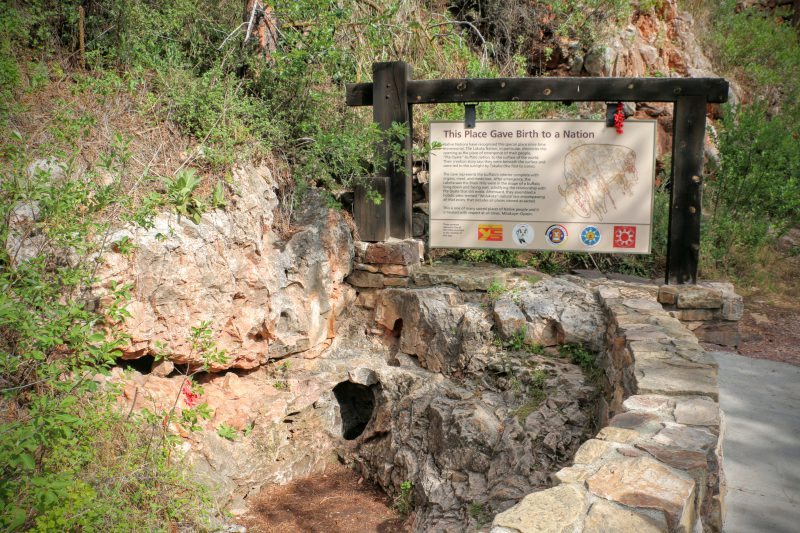 Wind Cave natural entrance