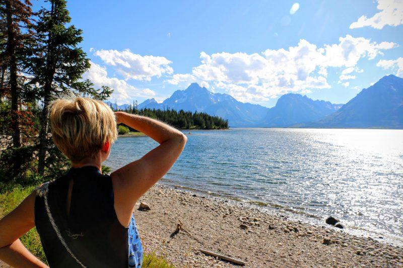 Wandelen langs Jackson Lake