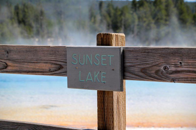 Sunset Lake Wyoming