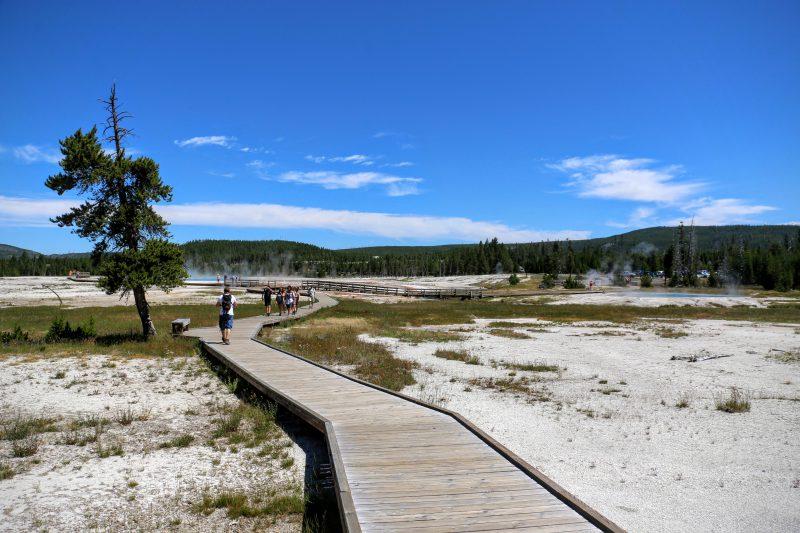 Yellowstone wandelpad
