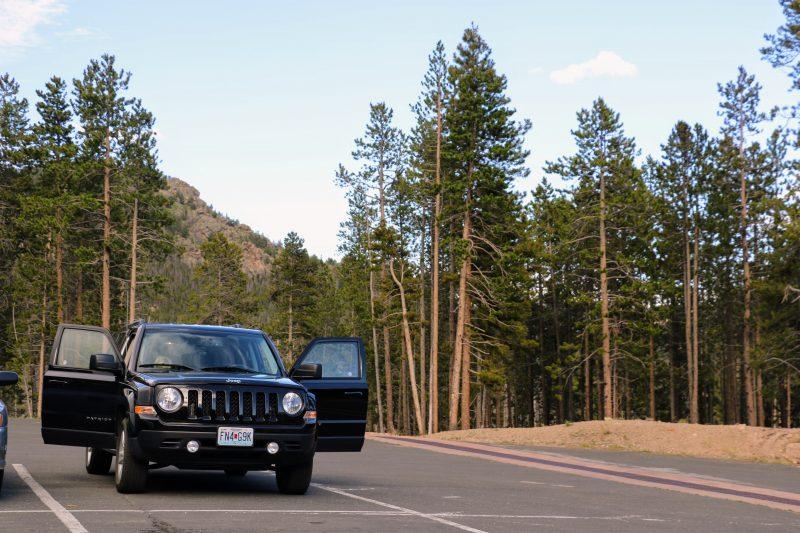 De route van Denver naar Rocky Mountain National Park