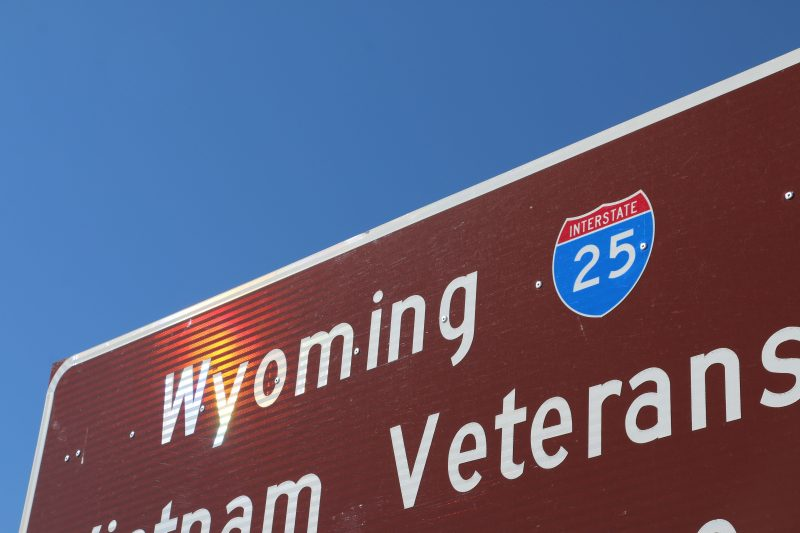 I-25 in Wyoming