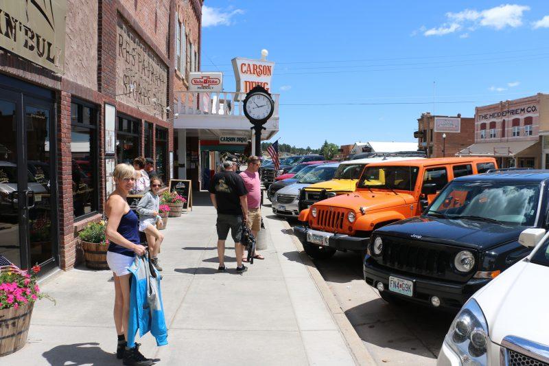 Het stadje Custer