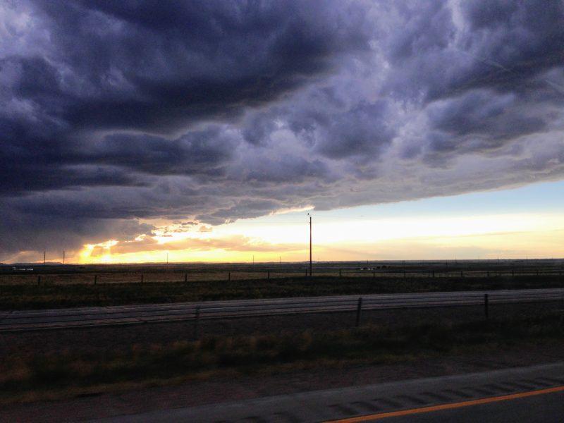 De route van Denver naar Cheyenne