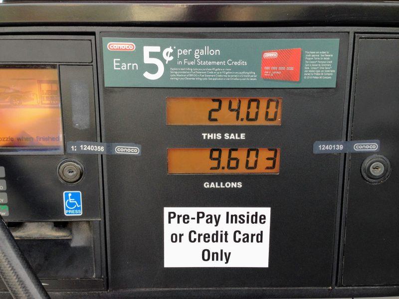 Benzine tanken in Amerika