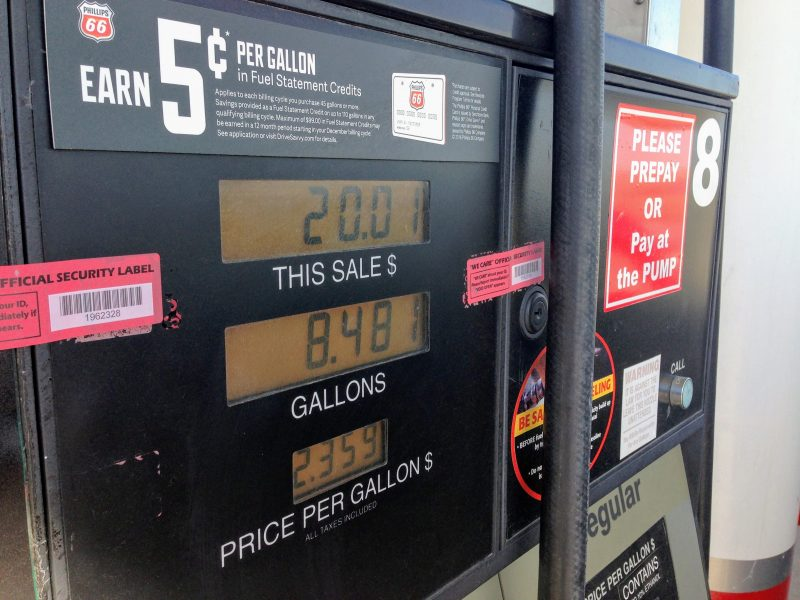 Benzine tanken in Rapid City