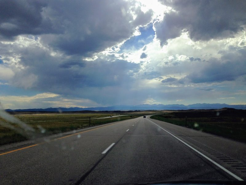 Route naar Yellowstone
