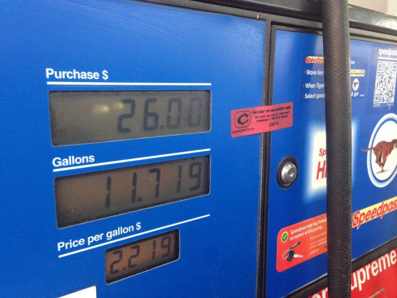 Benzineprijs Amerika rondreis