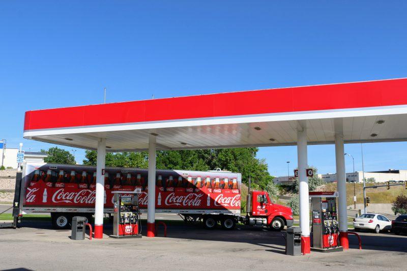 Amerikaanse Coca Cola vrachtwagen