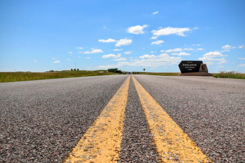 Route door Badlands NP