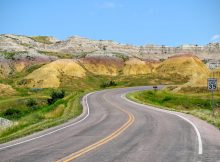 Mooie kleuren in Badlands Nationale Park