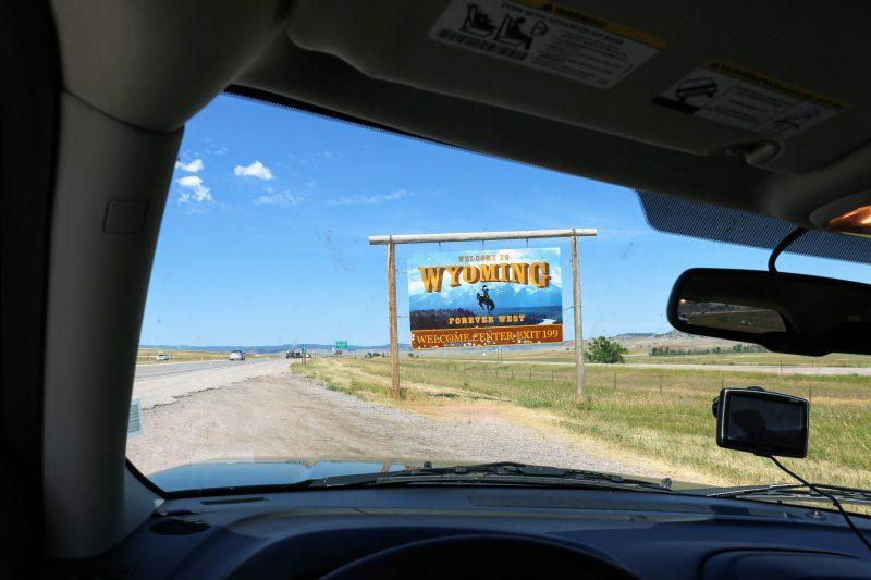 Staatsgrens Wyoming