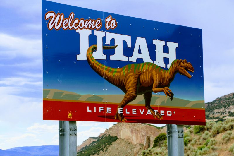 Welcome to Utah bord