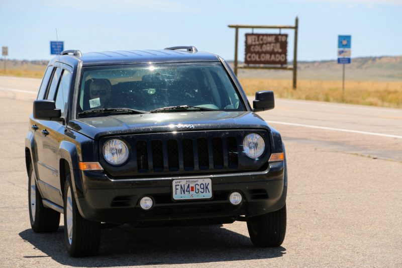 De route van Colorado naar Utah