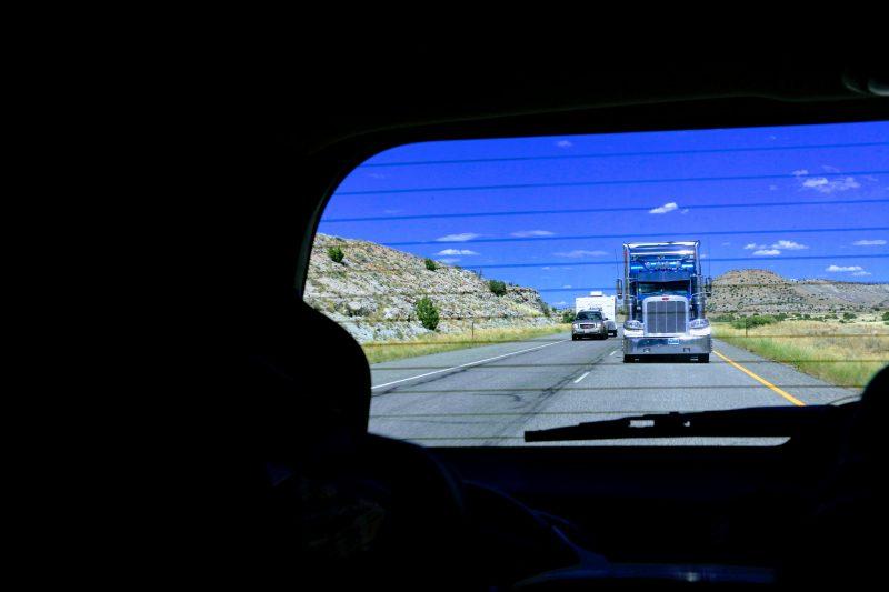 Met de auto onderweg naar Moab